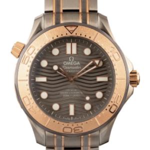 Best Quality Clone Omega Seamaster 300 2 tone titanium sedna gold