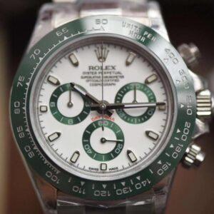Fake Rolex Daytona 116520 green Bezel Noob Swiss 4130 Clone Movement