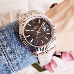 Rolex DateJust Black Dial Jubilee Bracelet