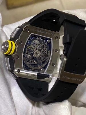 Iced out Richard Mille RM011-03 Titanium silver Replica - Luxury dripstores
