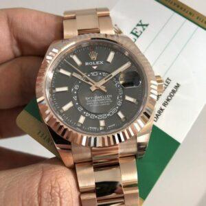 Rolex sky-Dweller Rose Gold Replica - Luxury dripstores