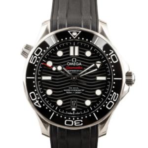 Fake Omega Seamaster Black Wave dial watch