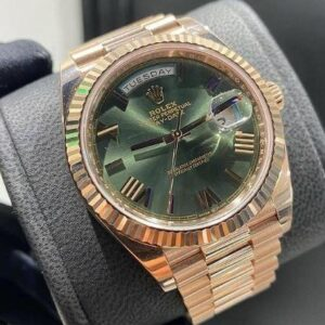 best 1:1 super clone Day-Date 60th anniversary olive green dial