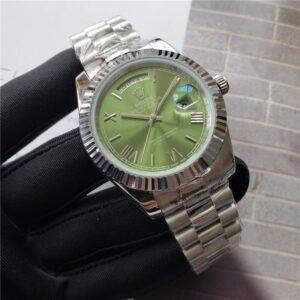 rolex daydate green dial