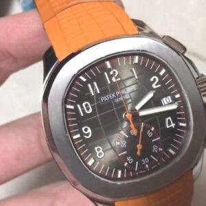 Patek philippe Aquanaut orange strap